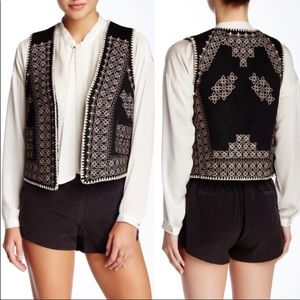 Gypsy 05 Embroidered Vests Vegan Black or Tan NWT